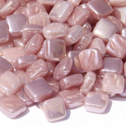 8mm Square Tiles - Dusky Pink Pearlised - 50g